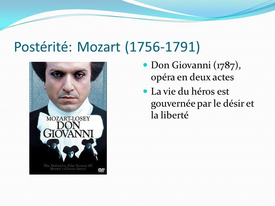Postérité: Mozart (1756-1791) Don Giovanni (1787), opéra en deux actes