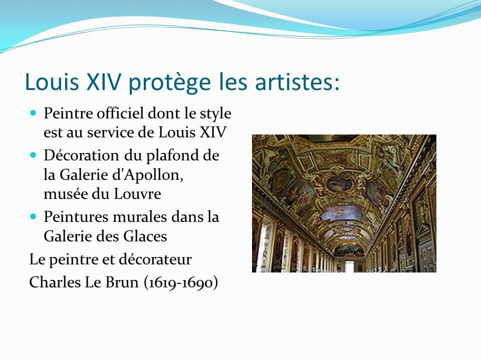 Louis XIV protège les artistes: