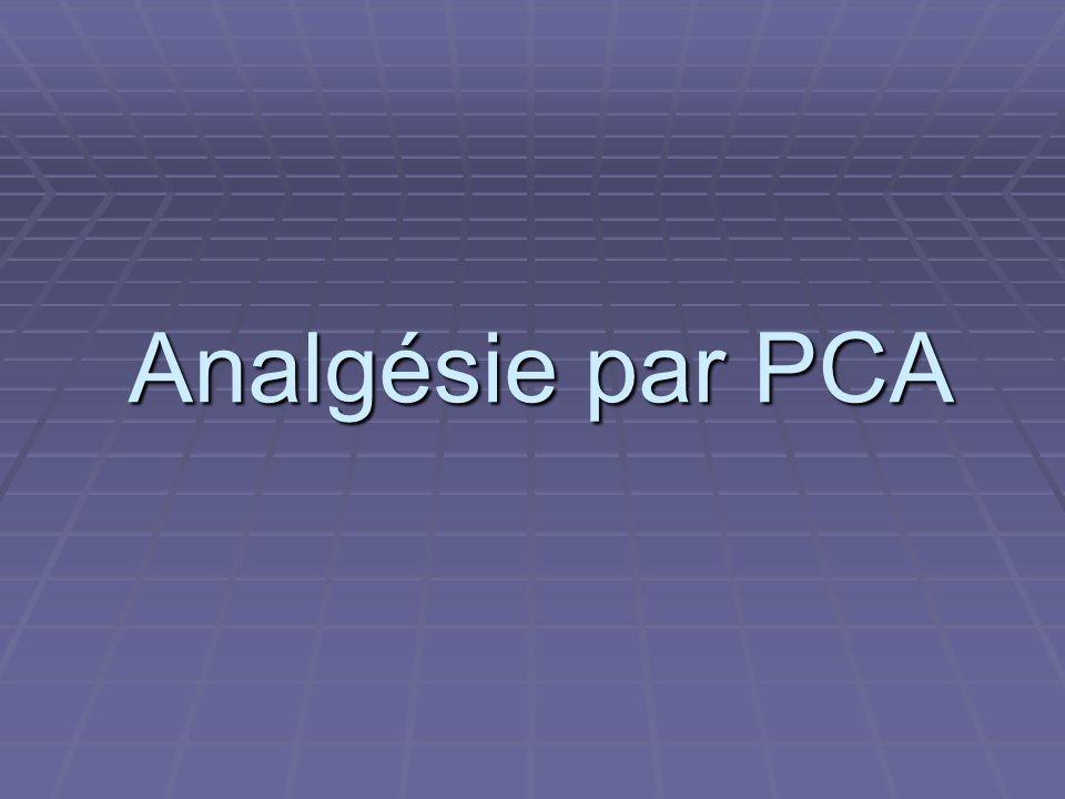Analgésie par PCA