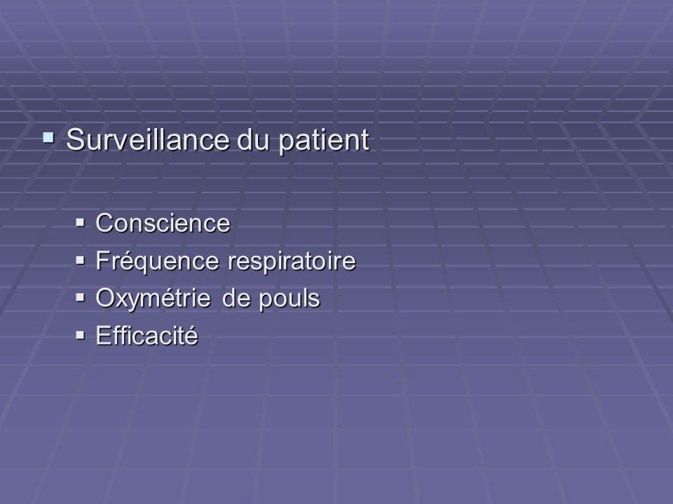 Surveillance du patient