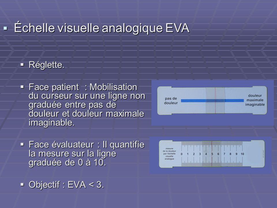 Échelle visuelle analogique EVA