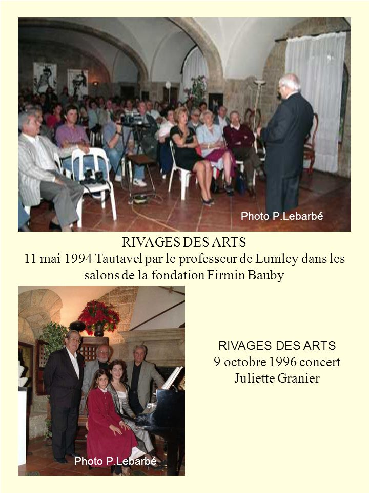 9 octobre 1996 concert Juliette Granier