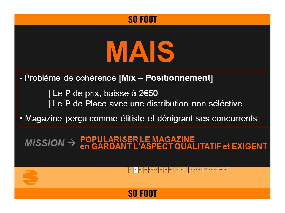 MAIS MISSION  | Le P de prix, baisse à 2€50