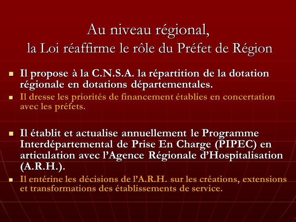 Au niveau régional, la Loi réaffirme le rôle du Préfet de Région