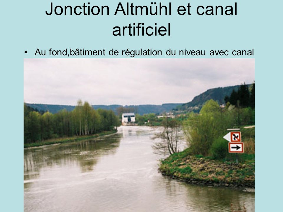 Jonction Altmühl et canal artificiel