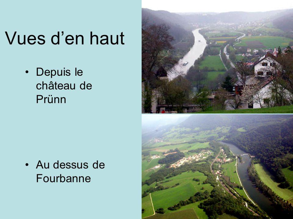Vues d'en haut Depuis le château de Prünn Au dessus de Fourbanne