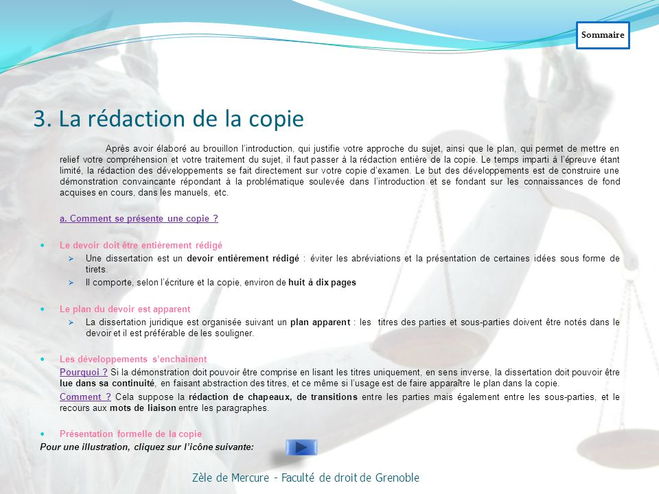 3. La rédaction de la copie