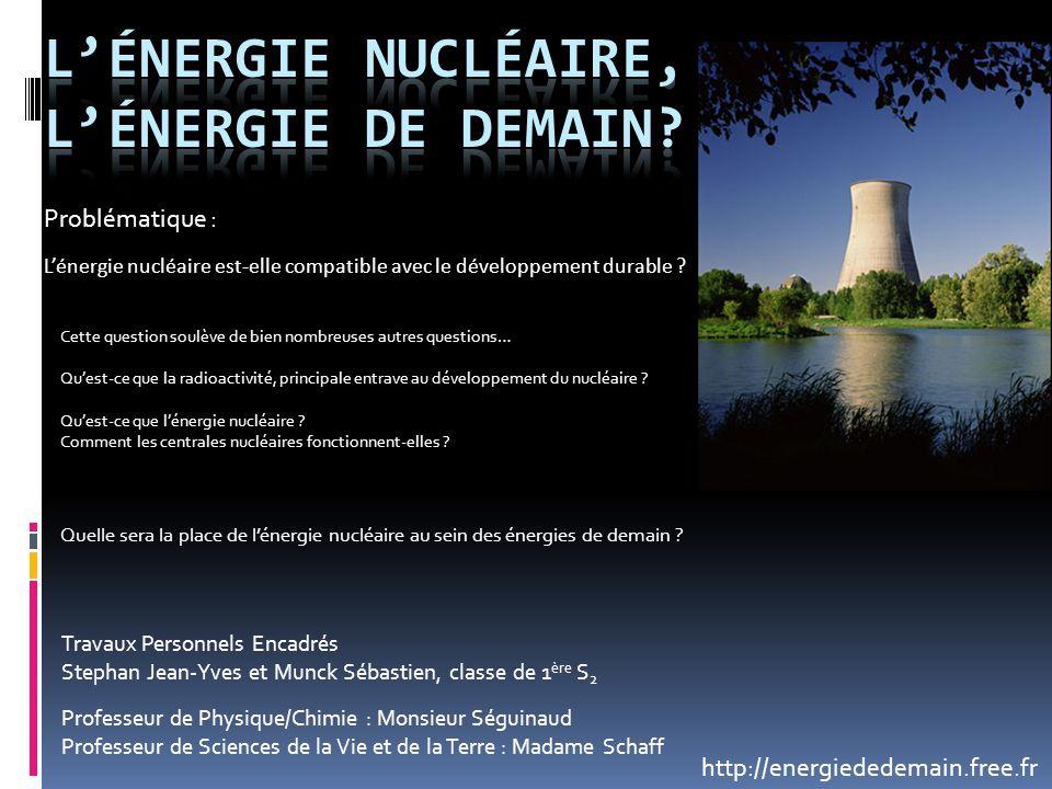 L'énergie nucléaire, l'énergie de demain