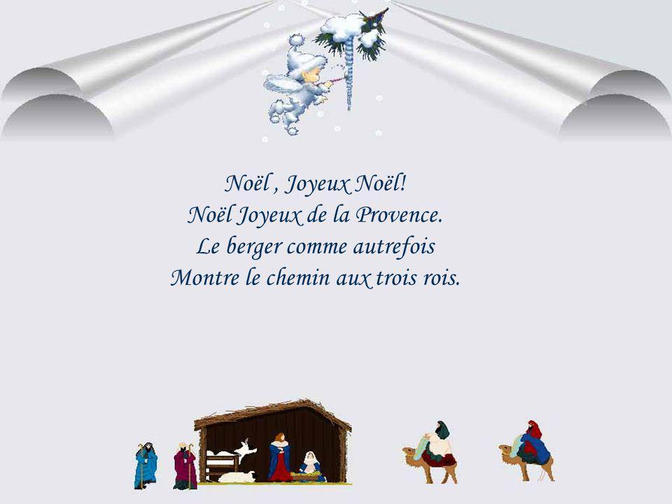 Noël Joyeux de la Provence. Le berger comme autrefois