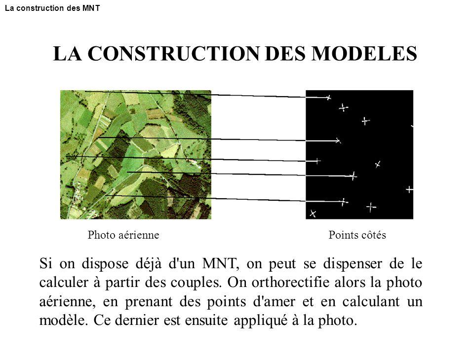 LA CONSTRUCTION DES MODELES