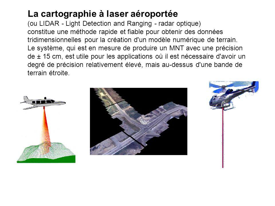 La cartographie à laser aéroportée