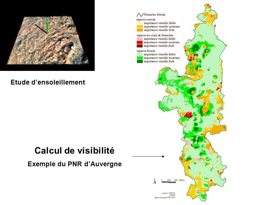 Etude d'ensoleillement Exemple du PNR d'Auvergne