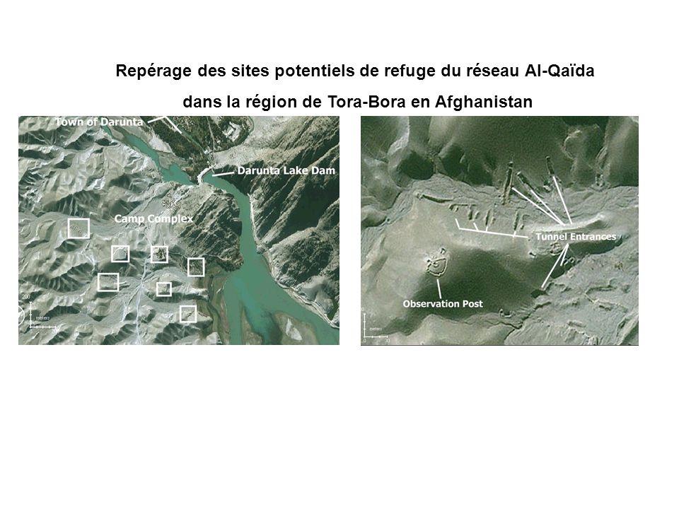 Repérage des sites potentiels de refuge du réseau Al-Qaïda