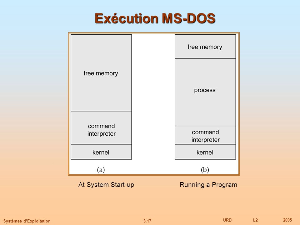 Exécution MS-DOS At System Start-up Running a Program