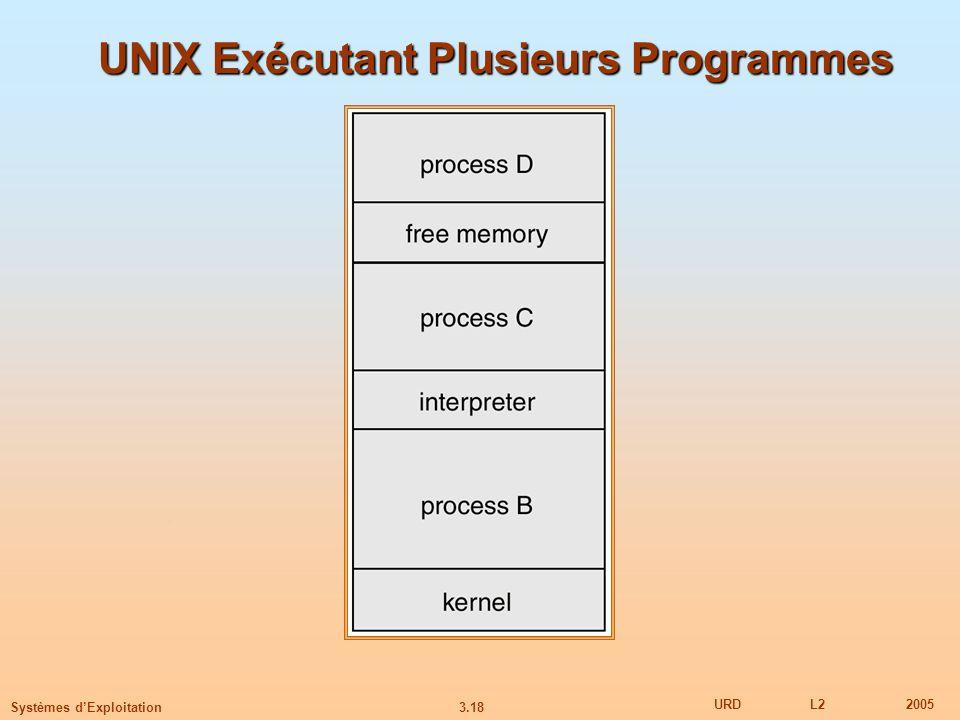 UNIX Exécutant Plusieurs Programmes
