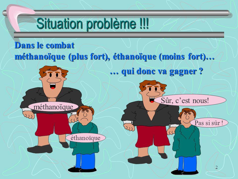 Situation problème !!! Dans le combat