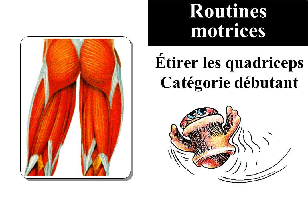 Étirer les quadriceps Catégorie débutant