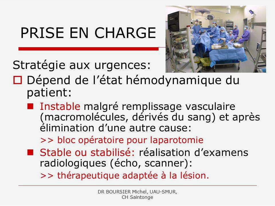 DR BOURSIER Michel, UAU-SMUR, CH Saintonge
