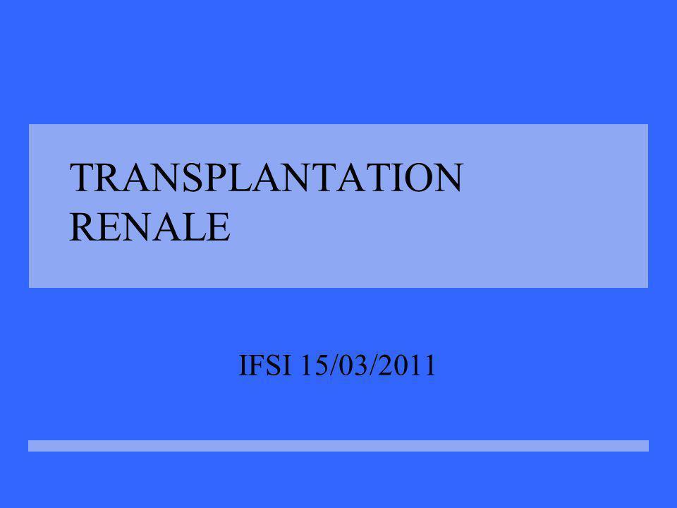 TRANSPLANTATION RENALE