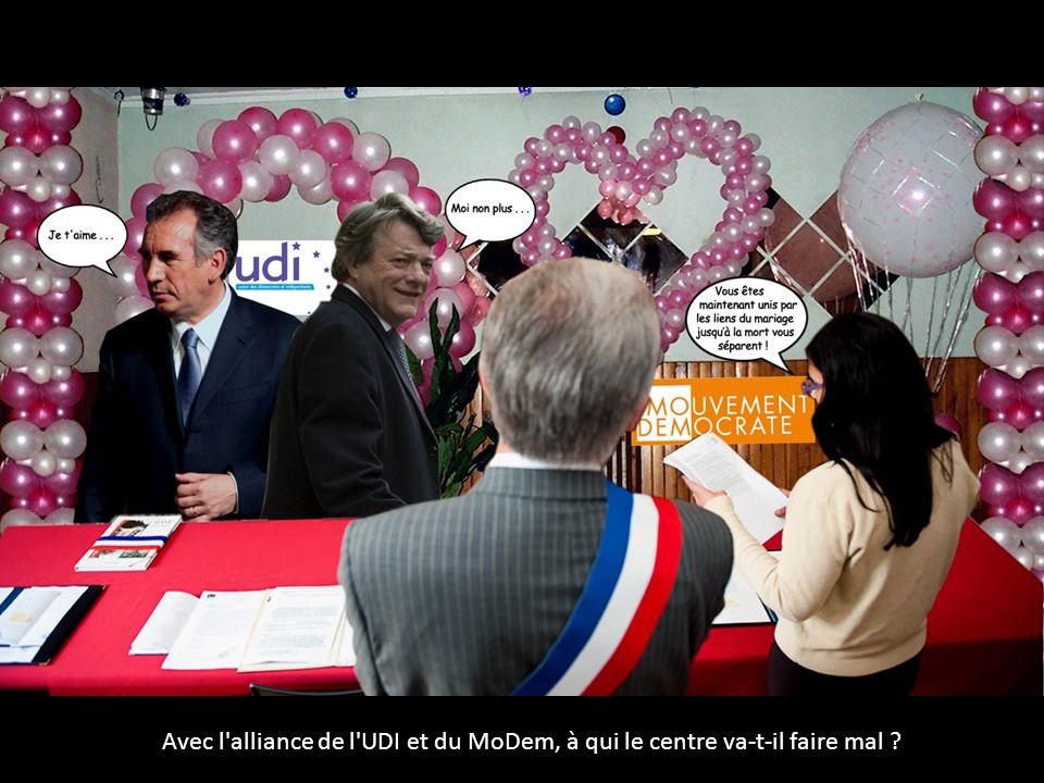 Avec l alliance de l UDI et du MoDem, à qui le centre va-t-il faire mal