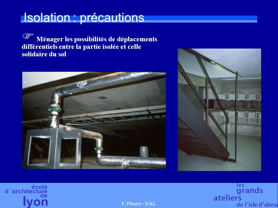 Isolation : précautions