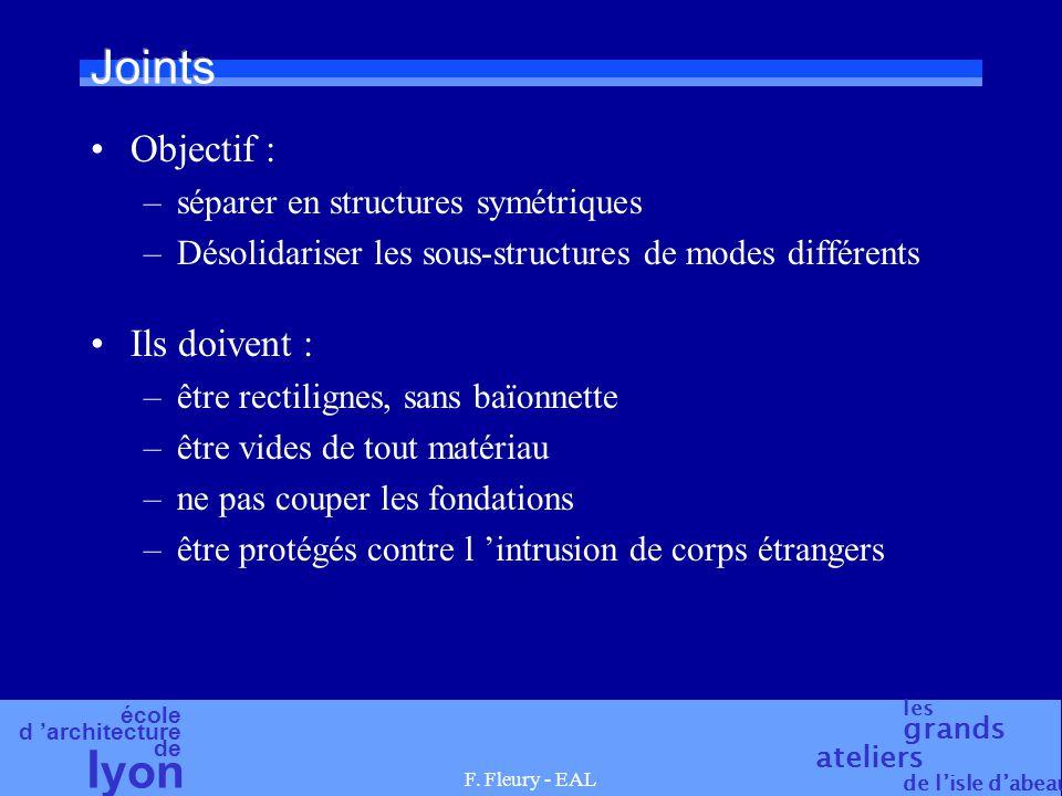 Joints Objectif : Ils doivent : séparer en structures symétriques