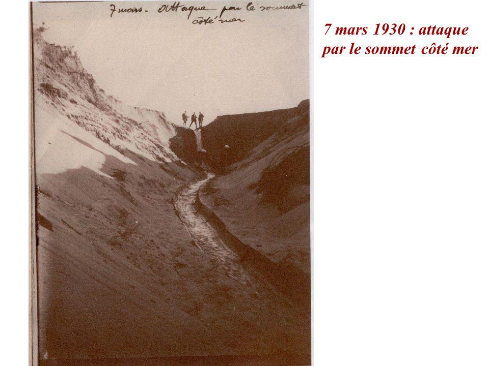 7 mars 1930 : attaque par le sommet côté mer