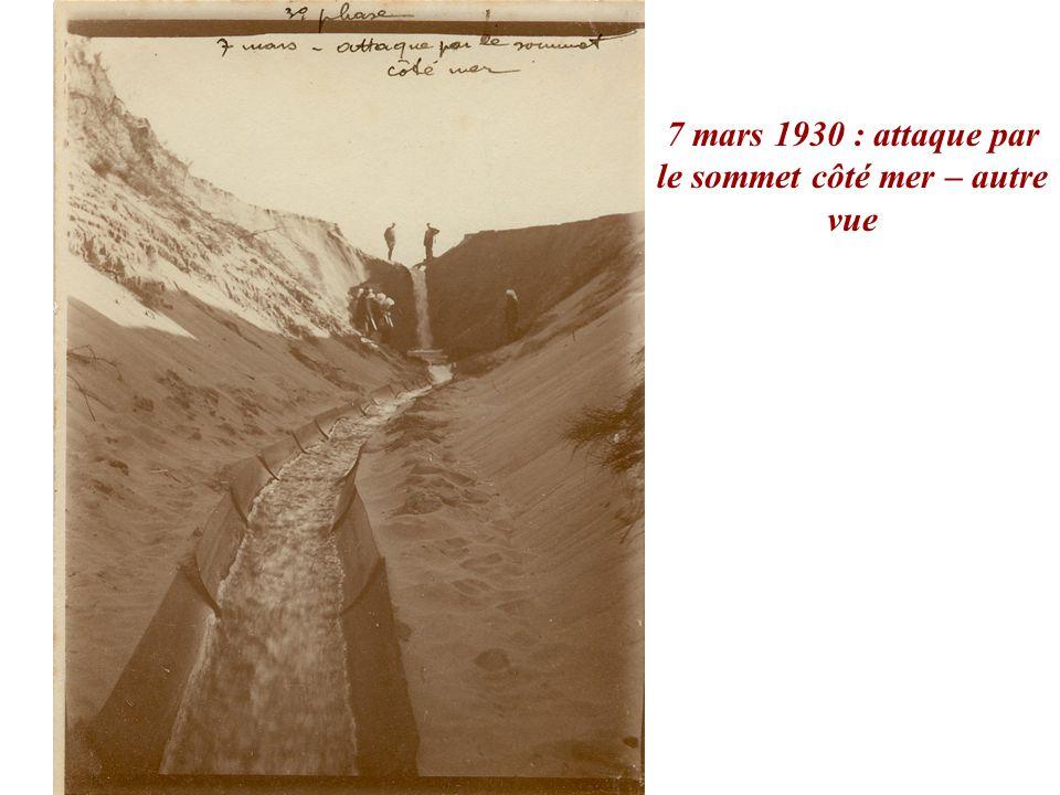 7 mars 1930 : attaque par le sommet côté mer – autre vue