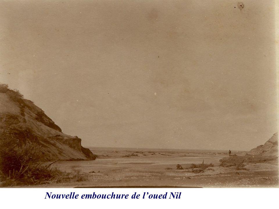 Nouvelle embouchure de l'oued Nil