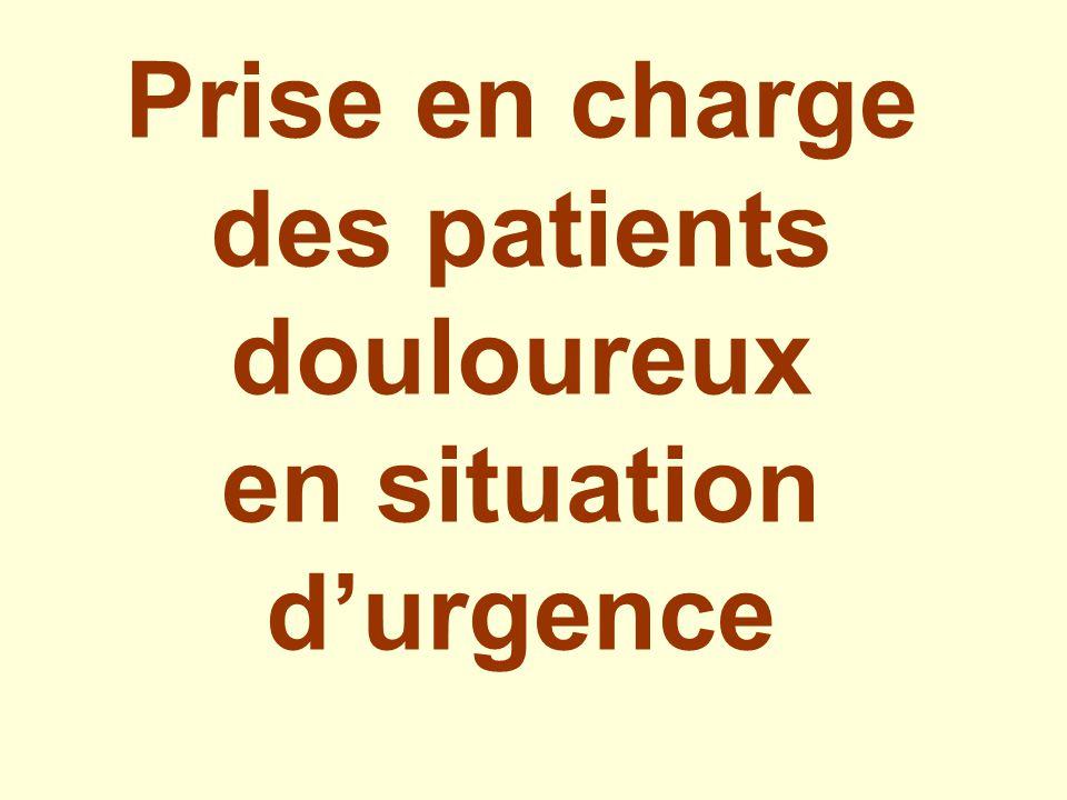 Prise en charge des patients douloureux en situation d'urgence