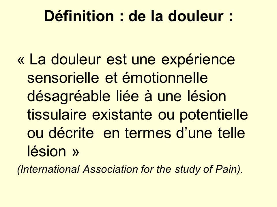 Définition : de la douleur :