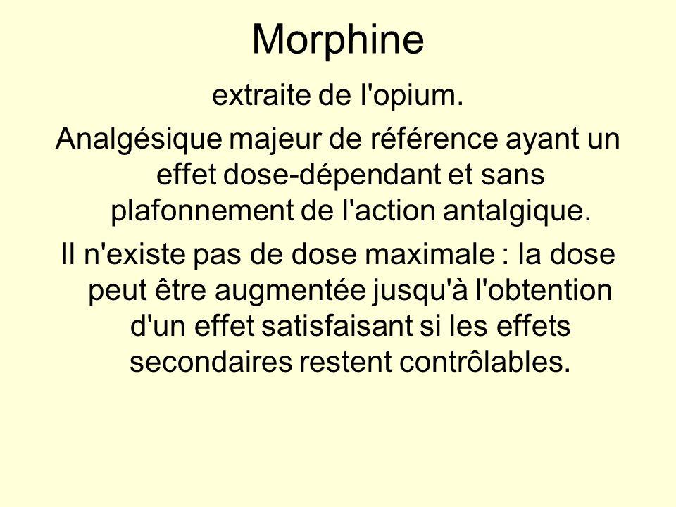Morphine extraite de l opium.