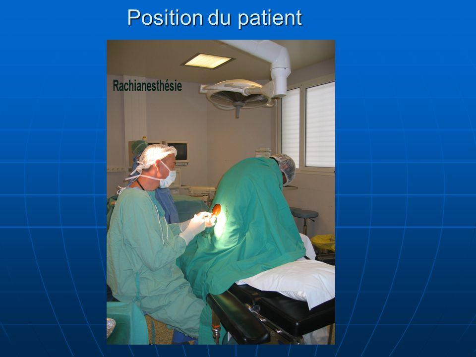 Position du patient