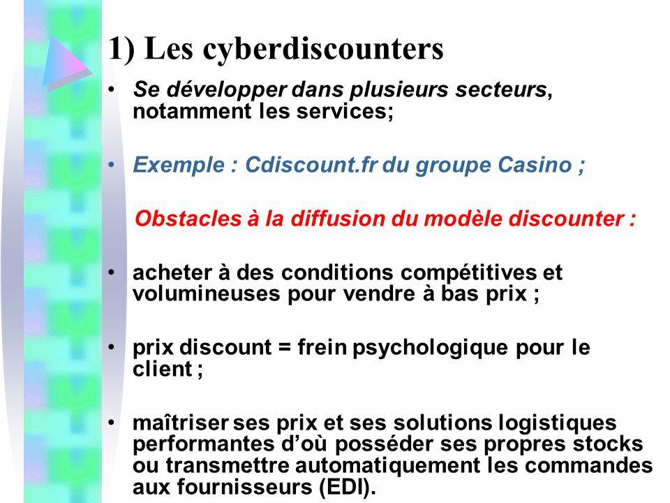 1) Les cyberdiscounters