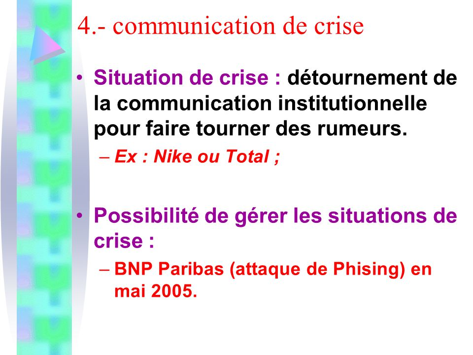 4.- communication de crise