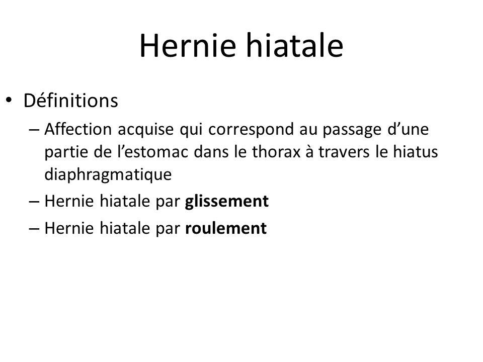 Hernie hiatale Définitions