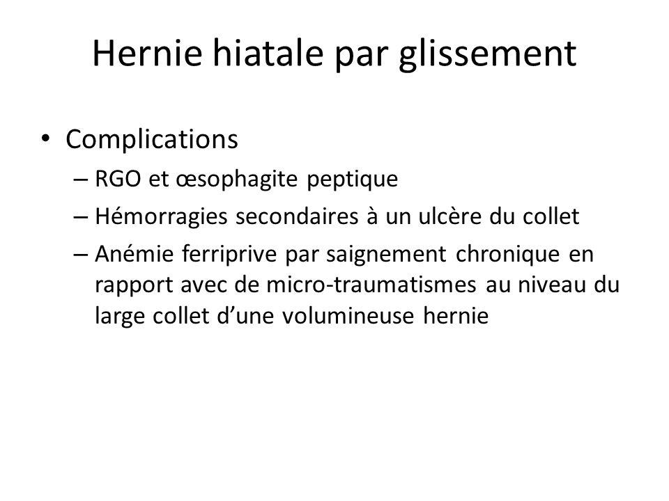 Hernie hiatale par glissement