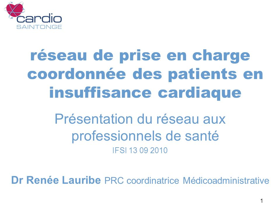 réseau de prise en charge coordonnée des patients en insuffisance cardiaque