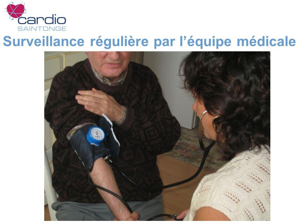 Surveillance régulière par l'équipe médicale