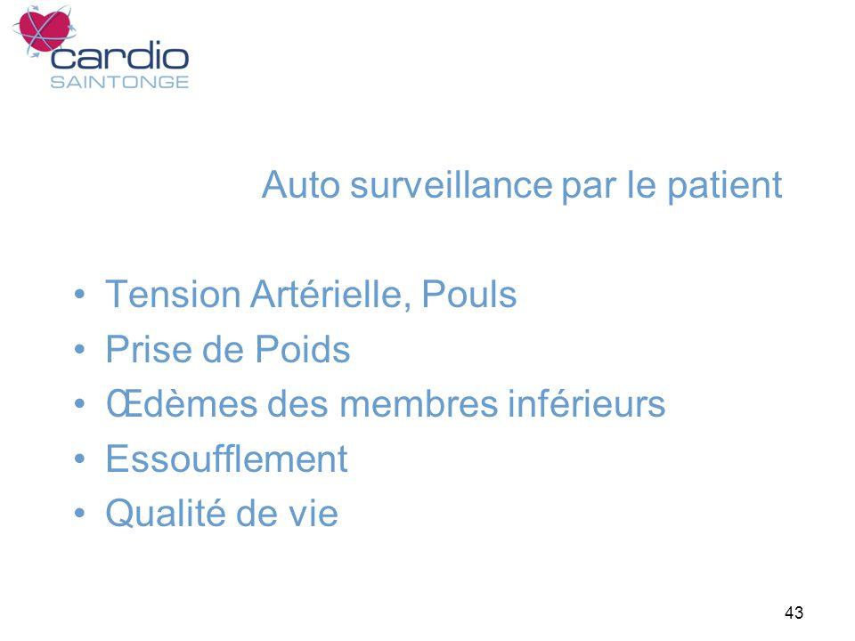 Auto surveillance par le patient