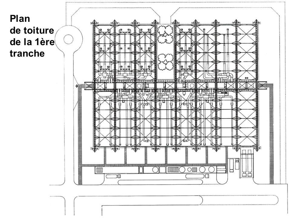 Plan de toiture de la 1ère tranche