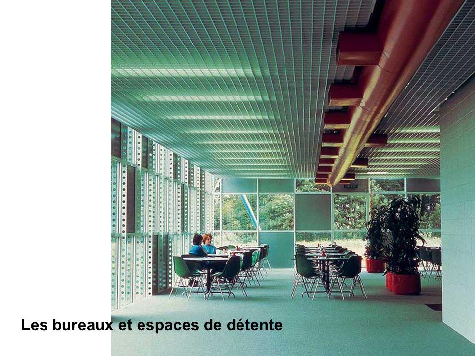 Les bureaux et espaces de détente