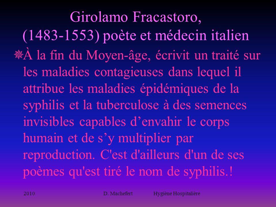 Girolamo Fracastoro, (1483-1553) poète et médecin italien
