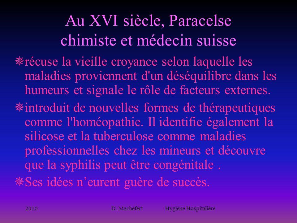 Au XVI siècle, Paracelse chimiste et médecin suisse