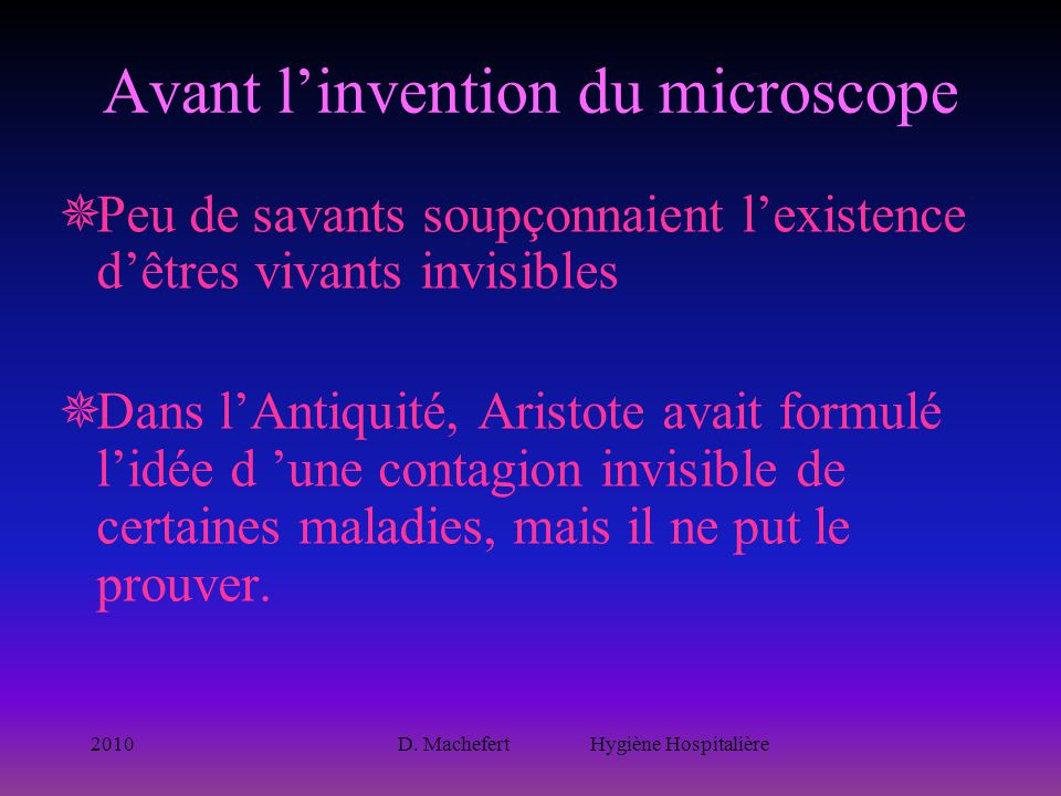 Avant l'invention du microscope