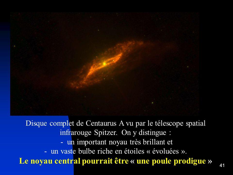 Le noyau central pourrait être « une poule prodigue »