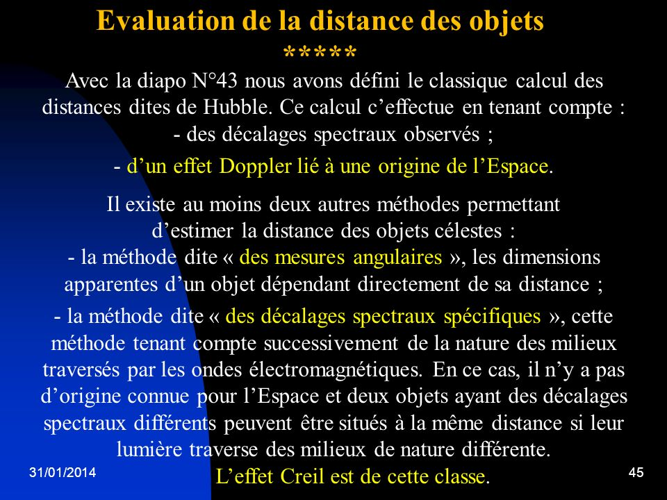 Evaluation de la distance des objets