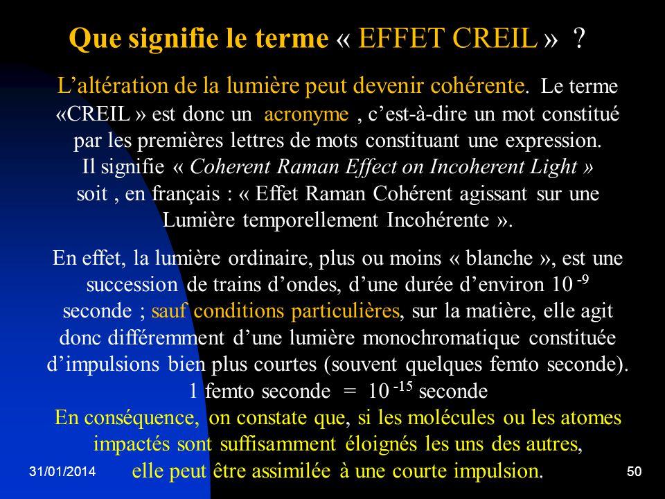 Que signifie le terme « EFFET CREIL »