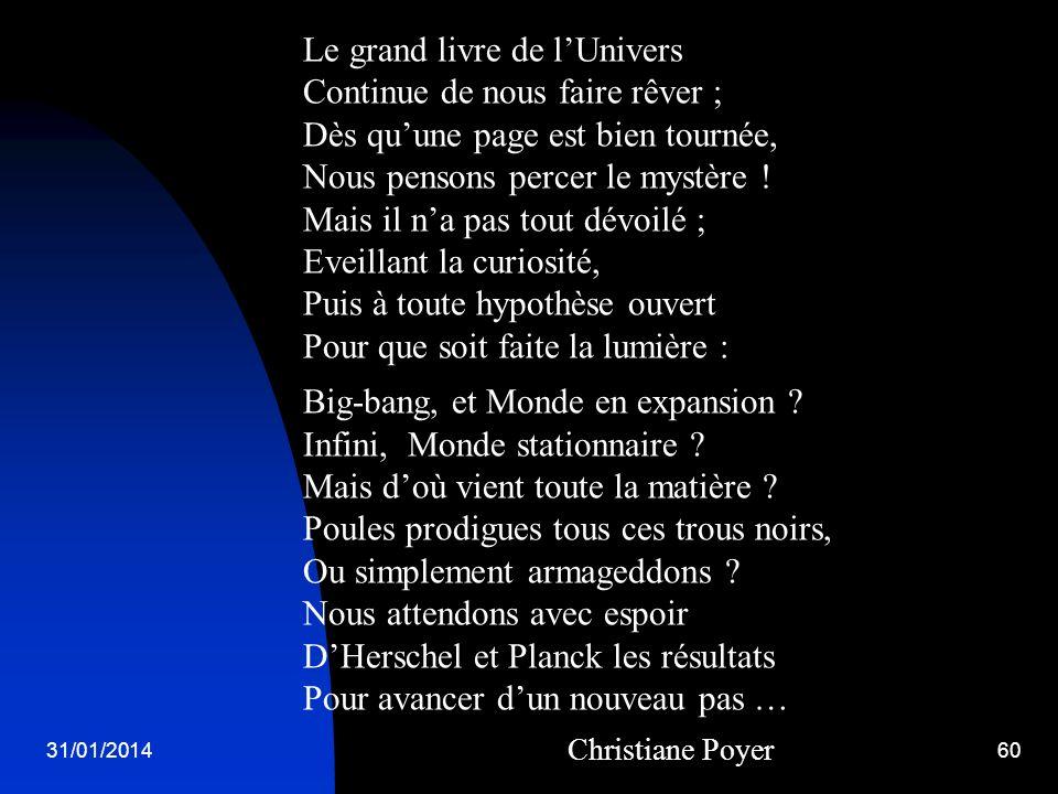 Le grand livre de l'Univers Continue de nous faire rêver ;