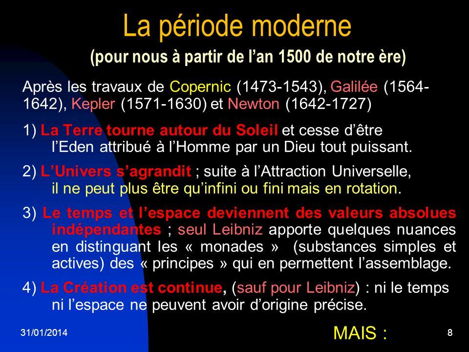 La période moderne (pour nous à partir de l'an 1500 de notre ère)